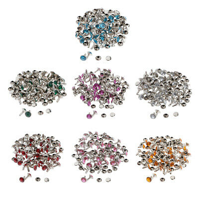 50 Sets Double Side Rivets Snap Fastener DIY Leather Crafts Sewing Supplies