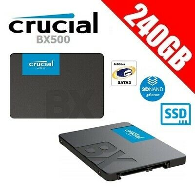 "Crucial BX500 240GB 3D NAND SATA 2.5"" SSD Solid State Drive PC Gamer Laptop"