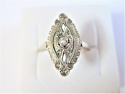 Art Deco Ring Gold 585 mit Brillant, 2,59 g