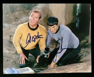 Leonard Nimoy & William Shatner Signed Photo With COA - Star Trek, Spock, Kirk