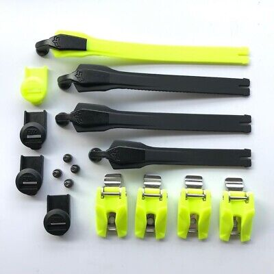 NEW Fox Racing 2020 Instinct MX Boot Strap/Buckle/Pass Kit - Black/Fluo Yellow