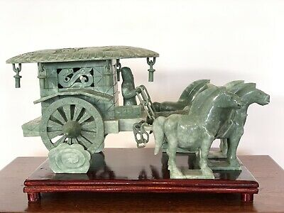 Hand Carved Jade Horse Drawn Carriage. Purchased 20 Years Ago In Shanghai