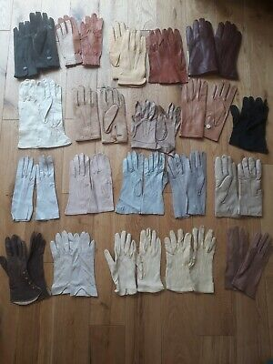 Vintage Retro Leather gloves 6 to 8, Dents, small to medium, job lot
