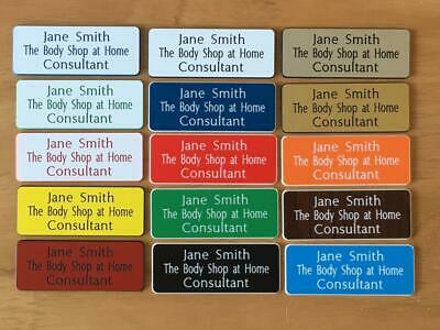 5 Engraved Personalised staff name badges, shop clubs pub school office