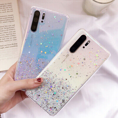 Case For Huawei P30 Pro Bling Glitter Silicone Shockproof Clear TPU Phone Cover