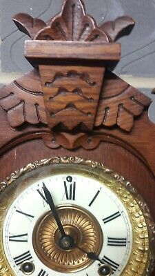 Ansonia Tivoli Oak Mantle Clock