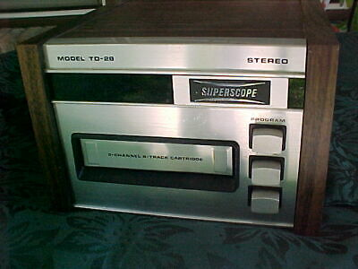 Vintage Sony 8 Track Stereo player. model TD-28. great condition.