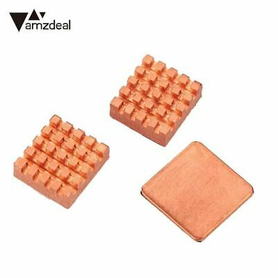 3PCS Pure Copper Slice Heat Sinks Cooling Fin Kit For Raspberry PI