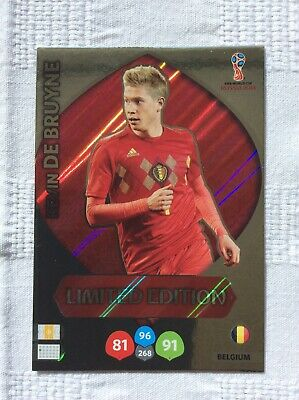 """Adrenalyn XL - World Cup Russia 2018: Kevin De Bruyne """"Limited Edition"""" Card"""