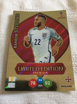 """Adrenalyn XL - World Cup Russia 2018: Raheem Sterling """"Limited Edition"""" Card"""