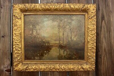 Charles Henry Harmon Oil Painting on Canvas Dated 1908 18x22