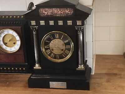 A Good Belguim  Slate/ Marble/ Mantle Clock Circa 1880