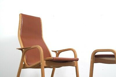Swedese Lamino chair and ottoman design Ingve Ekström