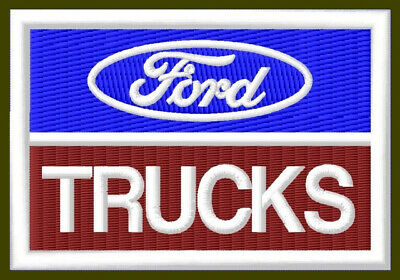 "FORD TRUCKS EMBROIDERED PATCH ~3-1/2""x 2-3/8""BORDADO PARCHE AUFNÄHER F150 F250"