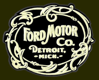 "FORD MOTOR CO EMBROIDERED PATCH ~3-5/8""x 2-7/8"" RICAMATO BORDADO PARCHE AUFNÄHER"