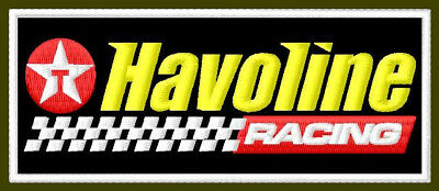 "HAVOLINE RACING EMBROIDERED PATCH ~4-1/4""x 1-5/8"" MOTOR OIL BRODÉ TRACK MUOKKAA"