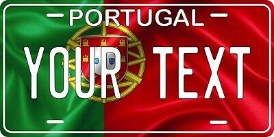 Portugal Flag Wave License Plate Personalized Car Auto Bike Motorcycle Custom