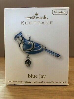 Blue Jay Beauty Of Birds Miniature Hallmark Ornament