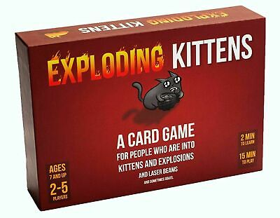 EXPLODING KITTENS Original Edition Card Party Family Game Goats GIFT NEW UK