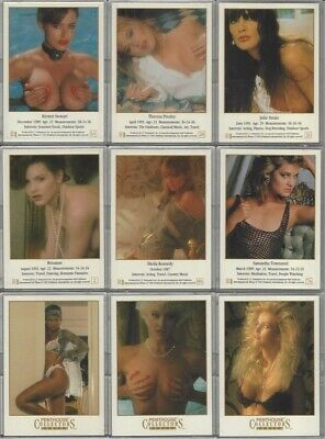 Lot Of 9 Penthouse Collectors Series 1992 2 Sided Trading Cards In Acrylic Cases