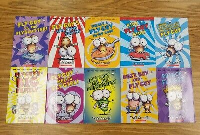 Brand New 10 Fly Guy Books - Tedd Arnold K 1st 2nd 3rd 4th Grade AR LOT HOT BUZZ
