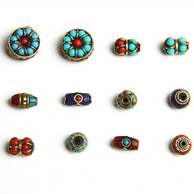 1Pcs Nepal Copper Loose Beads Handmade Jewelry Making Spacer DIY Shining Craft