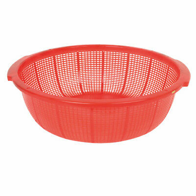 Thunder Group PLFP001, 18 1/2-Inch Plastic Round Colander with Handles, Red