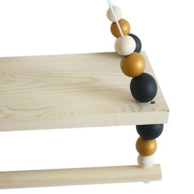 Nordic Style Wooden Hanging Shelf Wooden Nordic Style Hanging Bead Storage