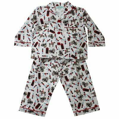 Boys Powell Craft Vintage Rex Dinosaur Traditional Cotton Pyjamas Ages 1-9