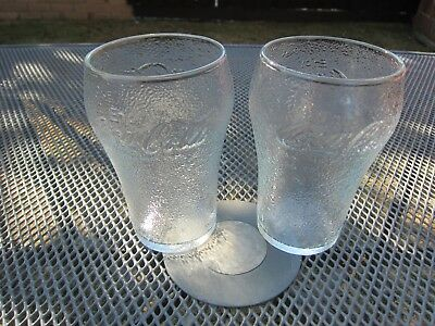 "2 Rare ""Enjoy Coca Cola"" Frosted Coke Glasses"