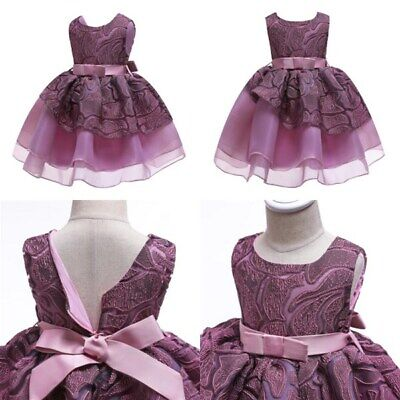 Formal princess girl flower party tutu baby dress dresses wedding bridesmaid kid
