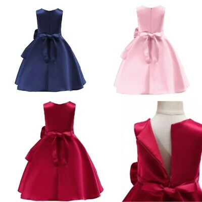 Bridesmaid kid wedding formal girl dress flower princess dresses party tutu baby