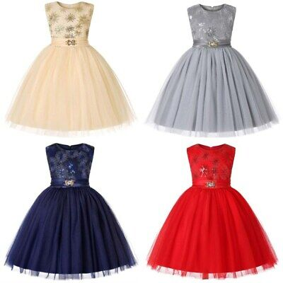 Party princess dress kid flower girl wedding baby bridesmaid tutu formal dresses