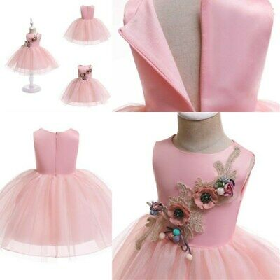 Princess dress wedding kid dresses flower tutu bridesmaid formal baby girl party