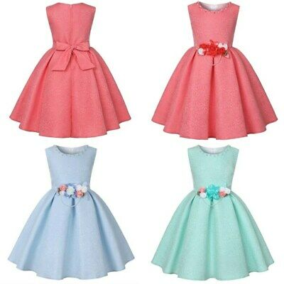 Girl princess dress kid dresses wedding tutu party flower bridesmaid formal baby