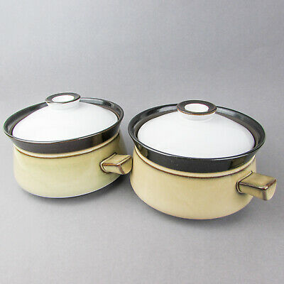 DENBY COUNTRY CUISINE small casserole pot covered Lidded 1 QT