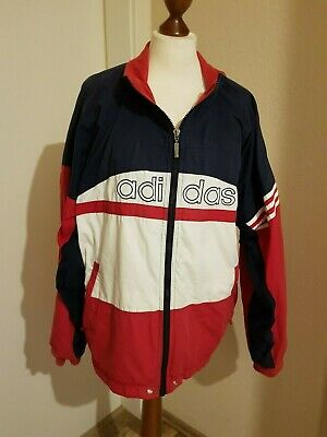 hot sale uk availability buy ADIDAS JACKE, ROT weiß, blau, Gr. M, L, Vintage, Retro ...