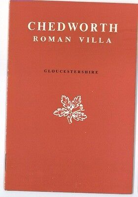 Vintage Guide Book For Chedworth Roman Villa, Gloucestershire