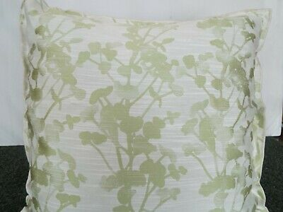24 inch EXTRA LARGE GIANT CUSHION LIME GREEN ON CREAM