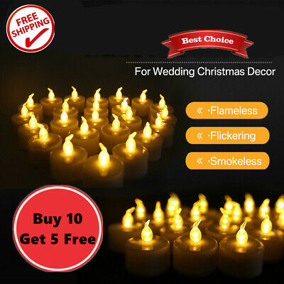 Led Tea Light Candles Tealight Flameless Wedding Battery Included Warm - NEW