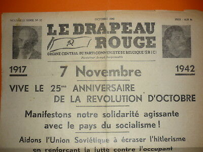 Clandestin - Journal Le Drapeau Rouge  Octobre 1942 -