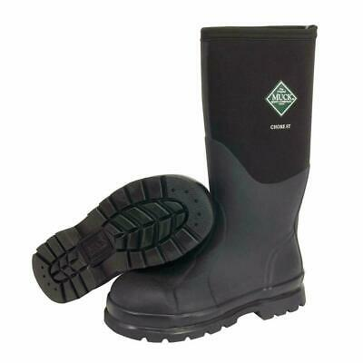 Muck Boot Classic Chore All-Conditions Steel Toe Work Boot Hi Black CHS-000A