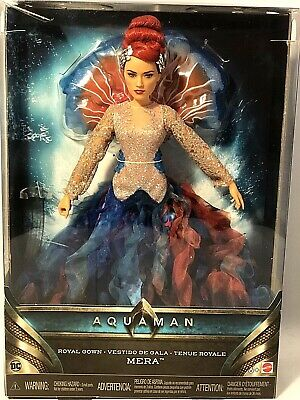 Mattel DC Aquaman Mera Royal Gown Doll FHY14 Barbie Size - Gown is Beautiful