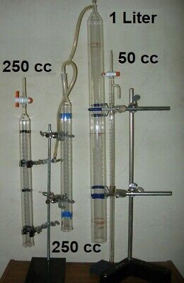 Glass laboratory burettes -- four items