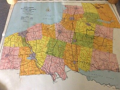 Highway Department Map Of Oswego County, New York 1962 - 19 By 22 Inches