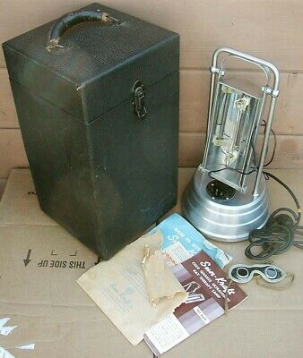 1940s SUN-KRAFT COLD QUARTZ ULTRAVIOLET RAY THERAPY LAMP~Model A-1~COMPLETE~NICE