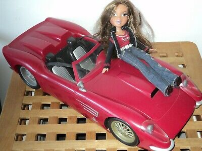 Bratz Red/Burgundy Convertible Sports Car MGA Collectable Official with Doll