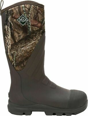 Muck Men's Woody Grit Mossy Oak Country Steel Toe Rubber Hunting Boots WDCS-MOCT
