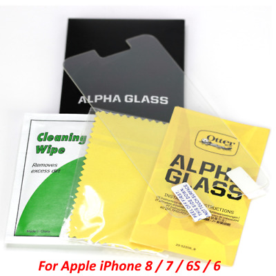 New OtterBox Alpha Glass Clear Screen Protector For Apple iPhone 8 / 7 / 6S / 6