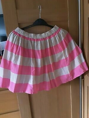 🎀Girl's H & M  Skirt In Pink And Cream Lines aged 11-12years🎀